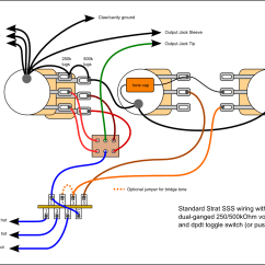 Strat Wiring Diagram Bridge Tone Power Door Lock Switch Hi I 39m New 250k 500k Dual Pot W S 1 Guitarnutz 2
