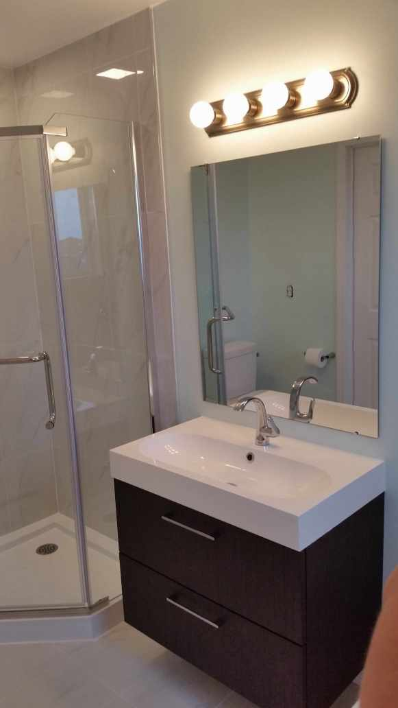 Turn your old bathroom into your very own spa oasis. With a steam shower, heated flooring, and soaker tub, you'll be ready to start your day.