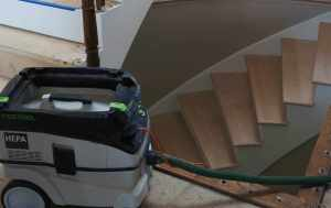 dust free stair refinishing
