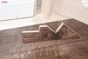 Angled Staircase to hardwood cutout