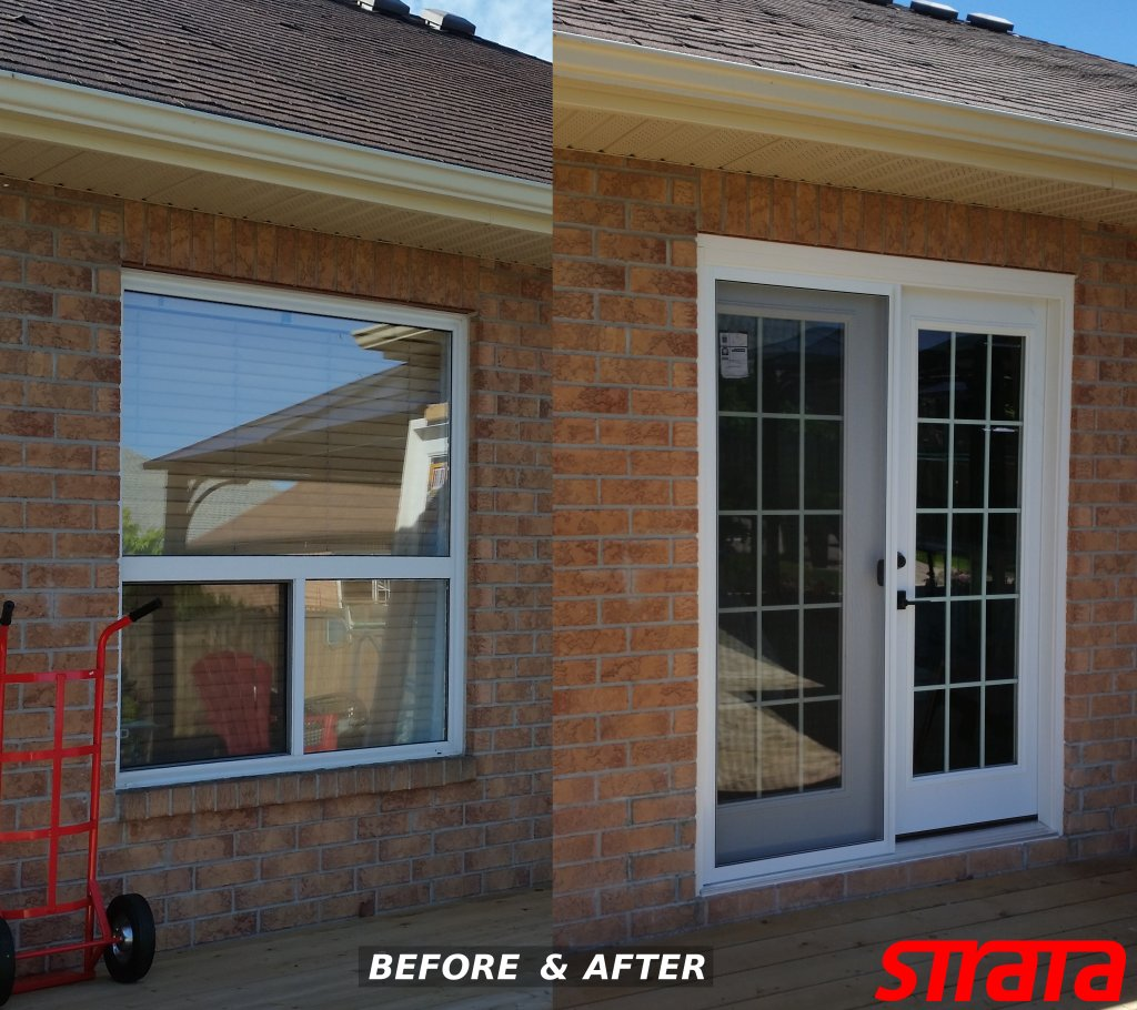 Brick Wall Window Cutout Install Door, Wall Cutout, Door Installation,  Exterior Wall Cutout