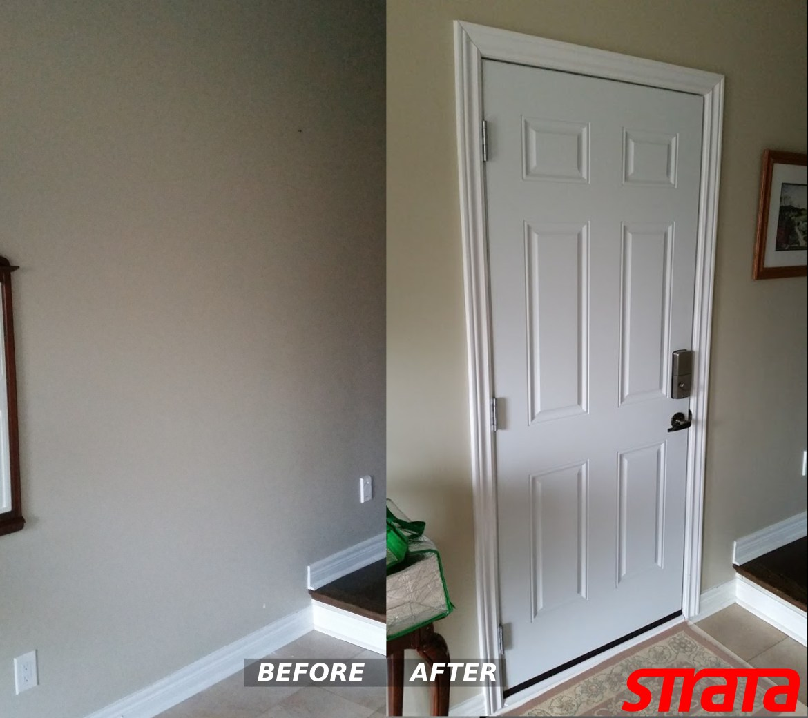 door cutout, cutout brick, install door, door cutout in brick, door into garage, add a door to garage, cut in a door into the garage, Install Door from house into garage in Vaughan, Toronto, Vaughan, GTA, Richmond Hill, Aurora, Newmarket