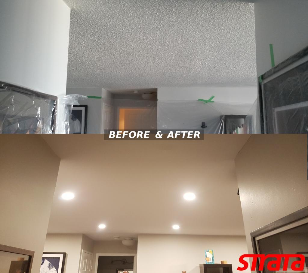 Dustless popcorn removal toronto painting pot light installation