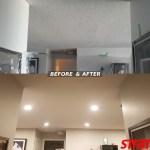 LED Potlight installation and Dustless Popcorn ceiling removal MIssissauga, Toronto. GTA, Etobicoke