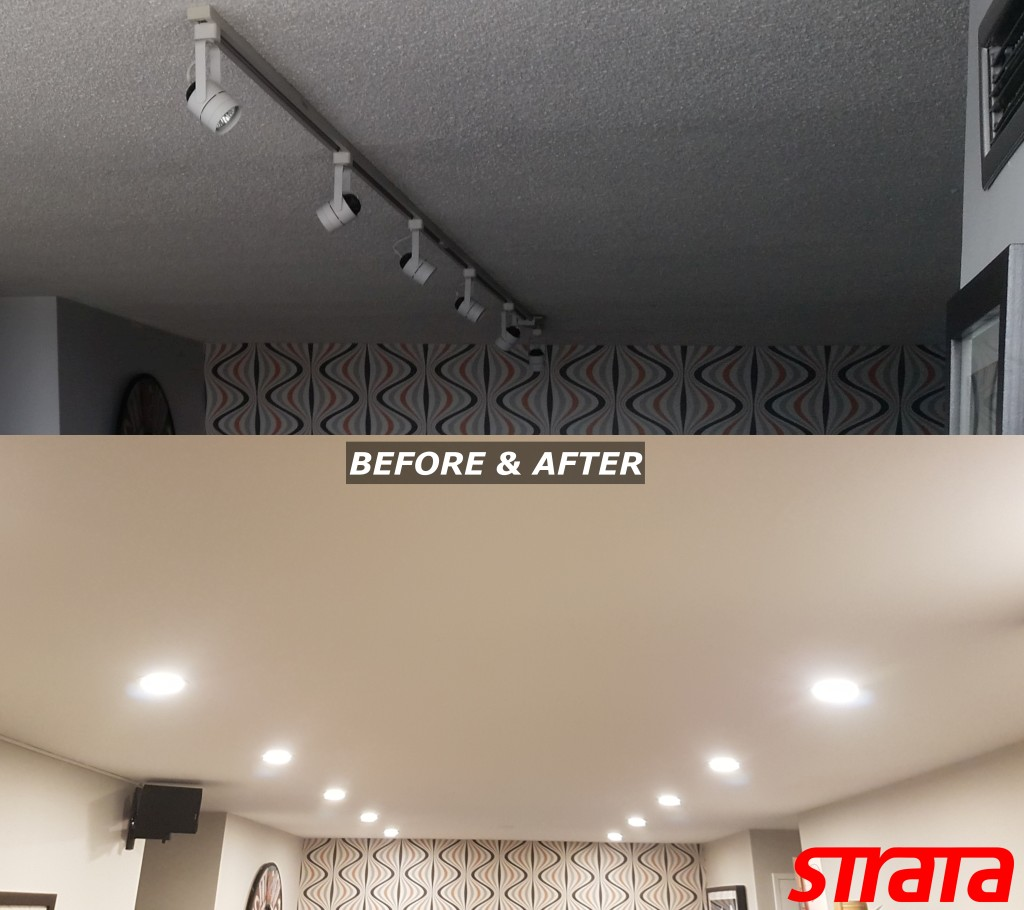 LED Potlight installation and Dustless Popcorn ceiling removal Toronto