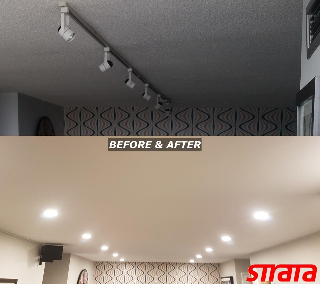 LED Potlight installation and Dustless Popcorn ceiling removal Toronto