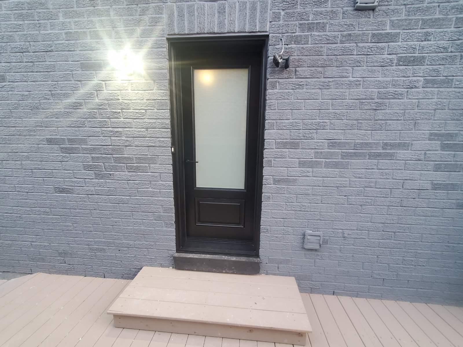 Black Fiberglass Door and Steel Door Installation and Replacement, PVC and Vinyl Windows, Woodbridge, Maple, Vaughan, King, Aurora, Nemwarket, Caledon, Nobleton, Kleinburg