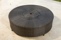 Source Outdoor Circa Wicker Round Ice/Coffee Table ...