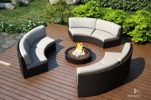 Curved Outdoor Sectional Wicker Sets