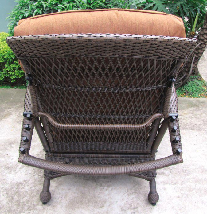 wicker reclining patio chair upright recliner chairs longboat key - wickercentral.com