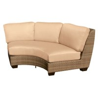 Whitecraft by Woodard Saddleback Wicker Circular Sectional ...