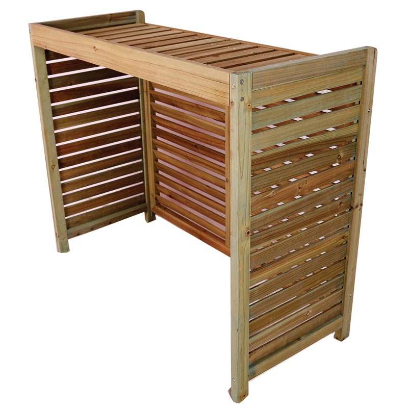 timber louvre air conditioner cover 1000 x 820 x 400mm