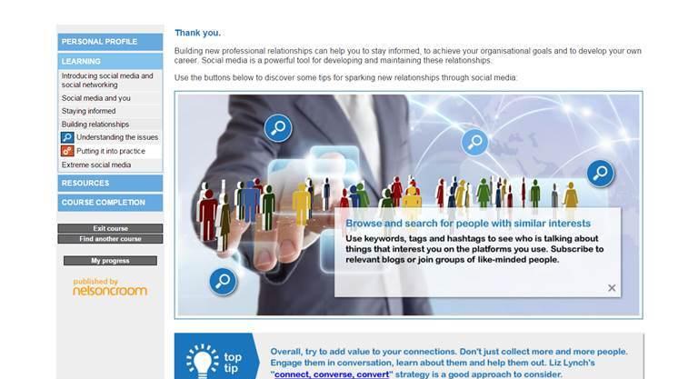 Social Media for Professionals screenshot3