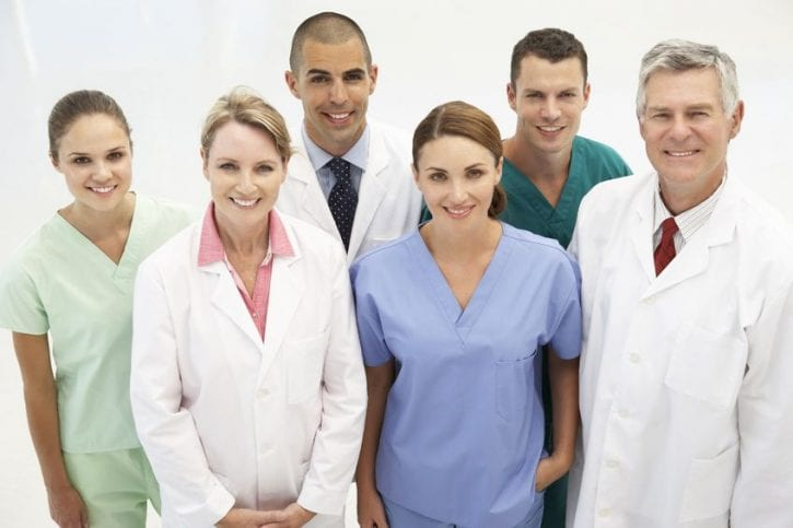 11210936 - mixed group of medical professionals