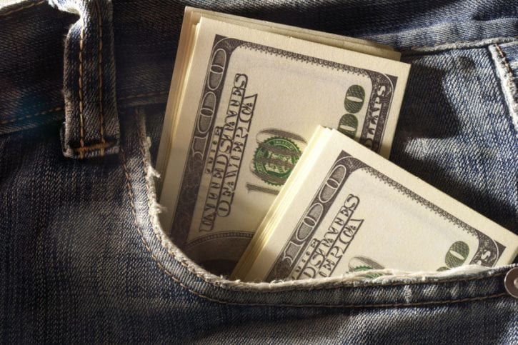 22582477 - cash in your pocket