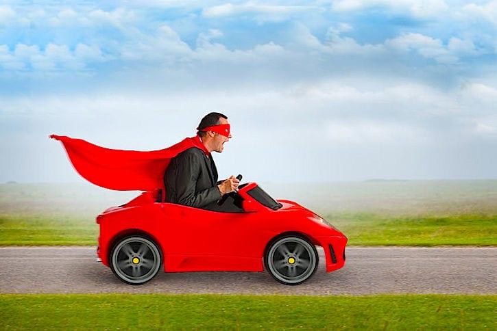 silly superhero racing