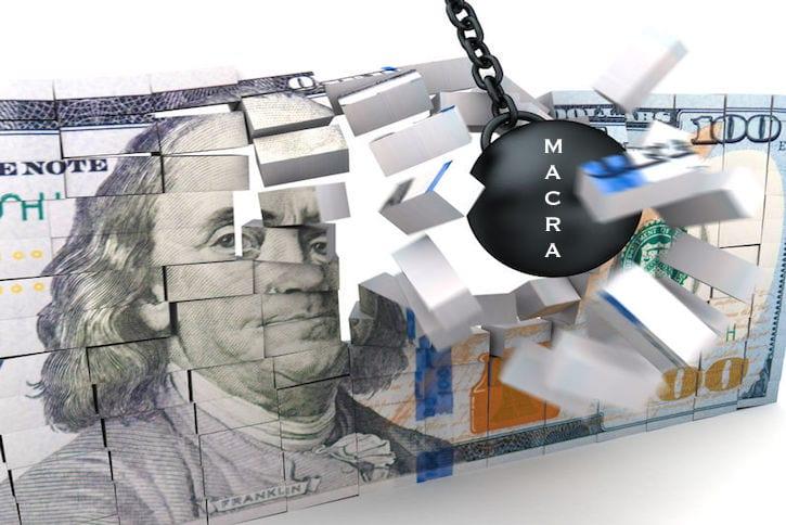 37908045 - abstract 3d illustration of money demolishing