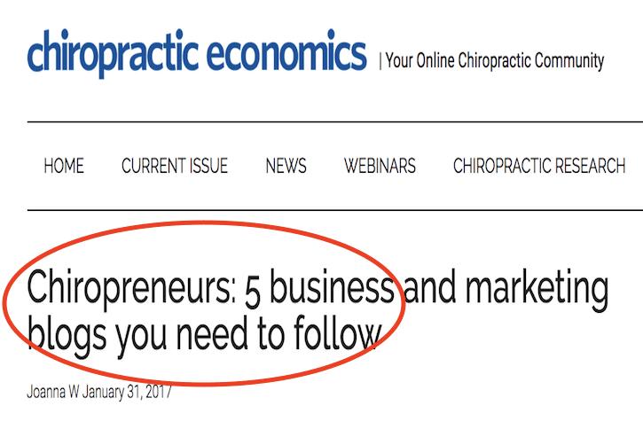 chiropractic economics strategic chiropractor top 5 blogs