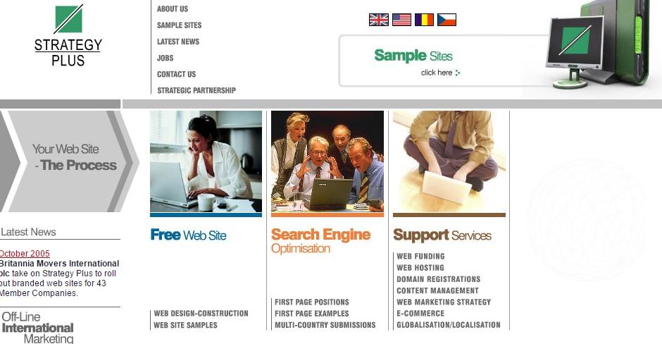 Strategy Plus Homepage Web Design 2005