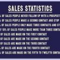 sales are rarely made at first contact