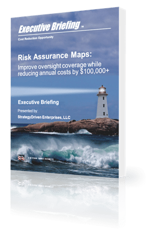 Executive Briefing Cost Reduction Opportunity Risk Assurance Maps