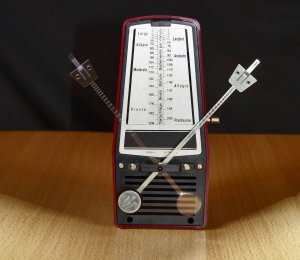 Music practise with a metronome.
