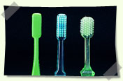 image of conventional toothbrushes
