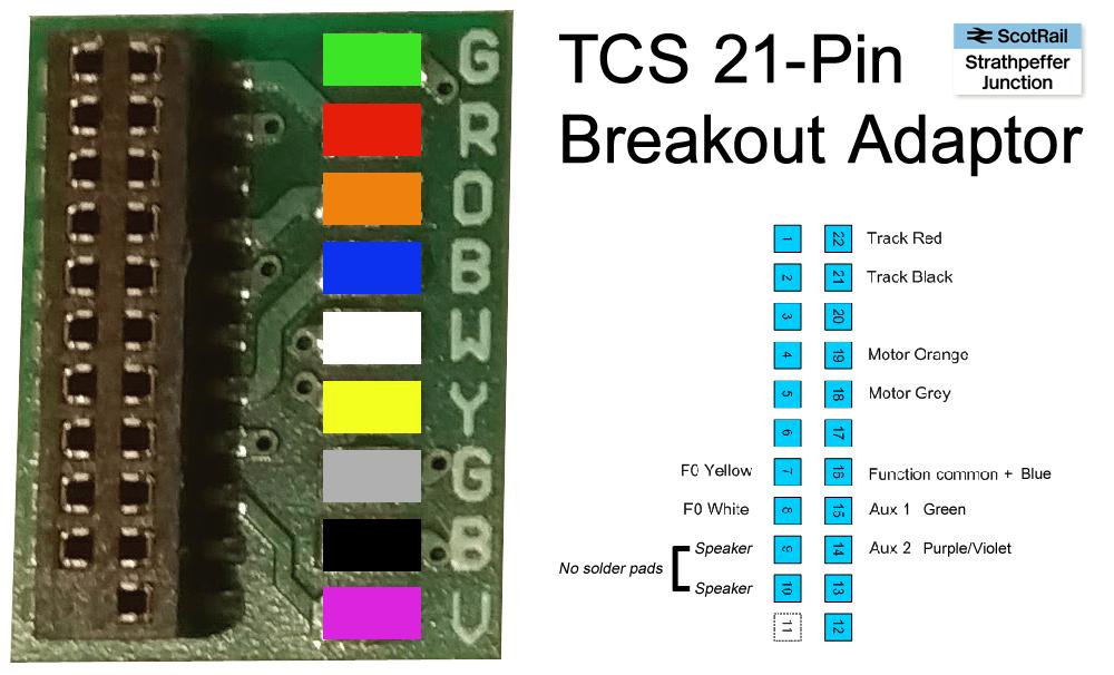 tcs 21 pin dcc breakout adaptor strathpeffer junction oo gauge rh strathpefferjunction com Light Switch Wiring Diagram Light Switch Wiring Diagram