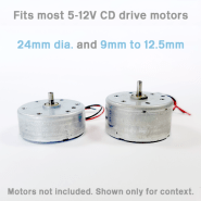 Adjustable Lima motor adaptor works with most 12mm CD motors