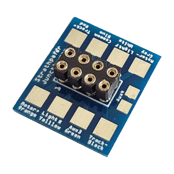 8-Pin Decoder Socket Hard Wire Adaptor (DCC 8 Pin NEM65 Socket with Solder Tabs)