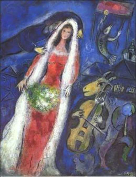 chagall-la-marriee
