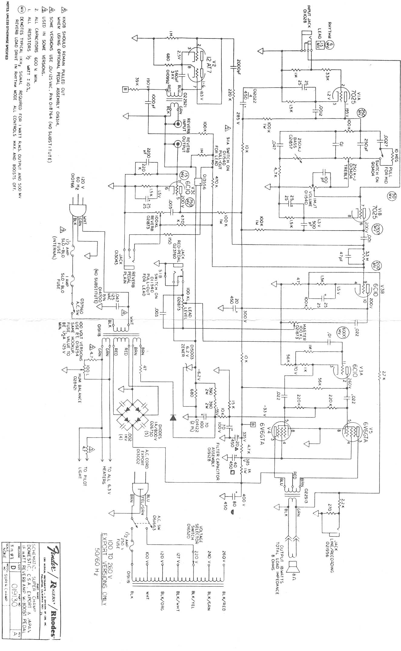 Fender Super Champ Xd Schematic | Wiring Diagram Database on