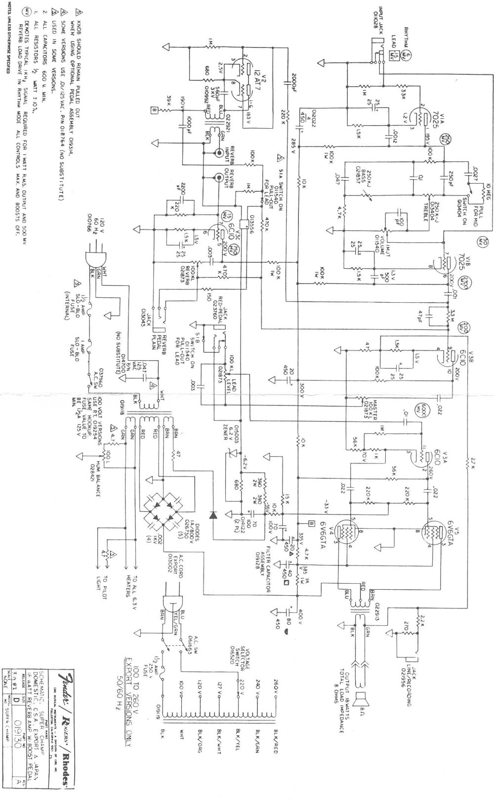 medium resolution of fender lead iii wiring diagram wiring diagram data schema fender stratocaster series wiring diagram fender lead