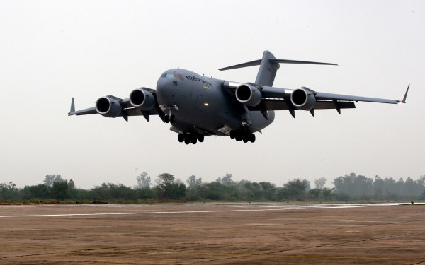 The first Indian Air Force C-17 landed in Delhi on Tuesday | Photo: IAF