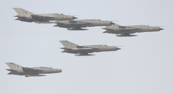 A flight of MiG-21s at the IAF's live-fire demo, Iron Fist, 2013 | StratPost