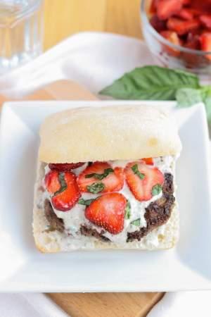 Strawberry Basil Bleu Burgers   Strawberry Blondie Kitchen