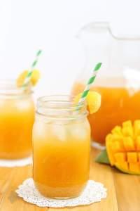 Mango Green Tea Lemonade | Strawberry Blondie Kitchen