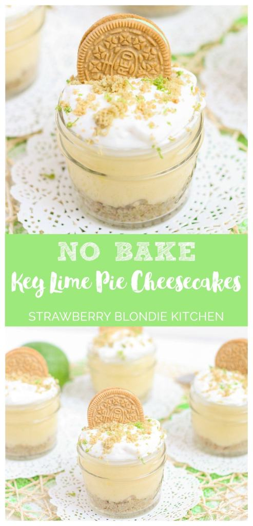 No Bake Mini Key Lime Pie Cheesecakes | Strawberry Blondie Kitchen