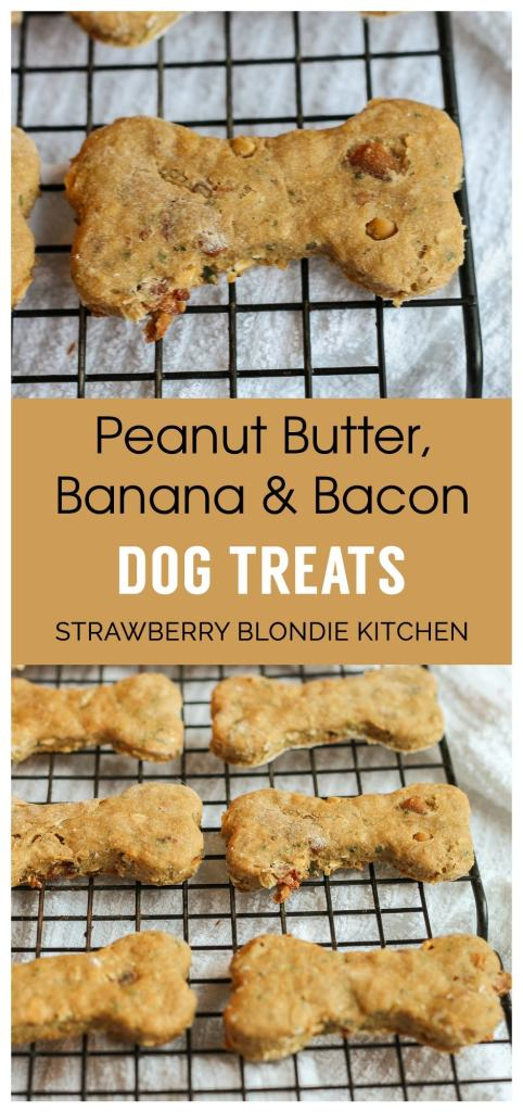 DIY Peanut Butter Bacon Banana Dog Treats | Strawberry Blondie Kitchen