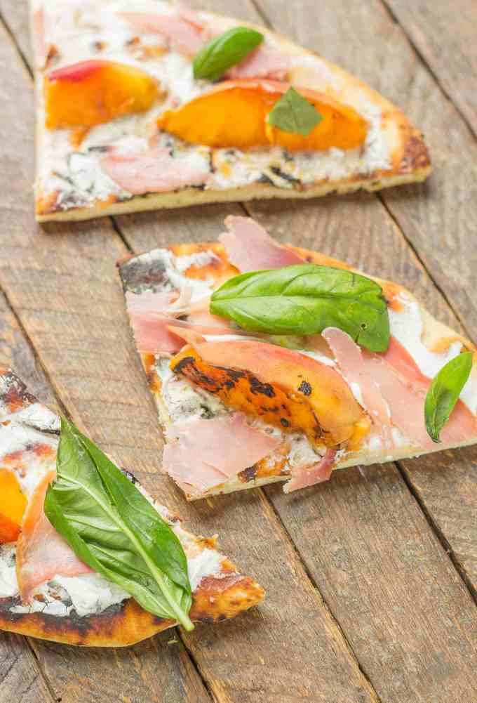 Grilled Peach, Prosciutto and Goat Cheese Pizza ...