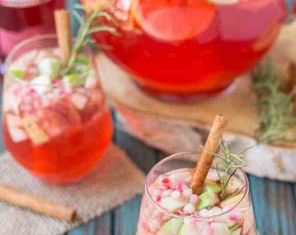 Cranberry Apple Rosemary Sangria