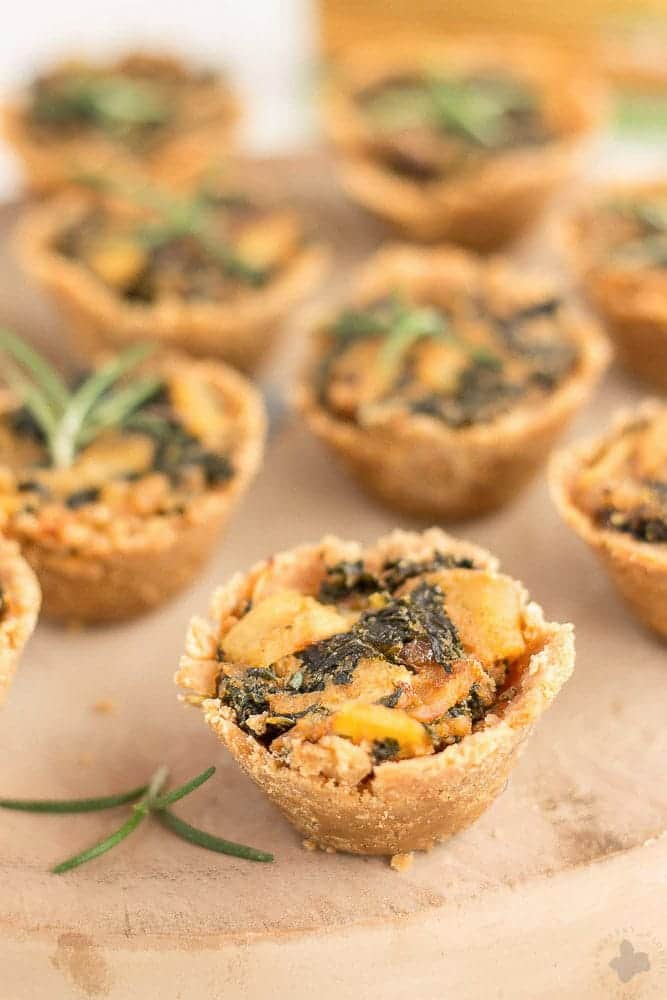 Rosemary Cracker Bites with Goat Cheese, Kale and Potatoes are the ...