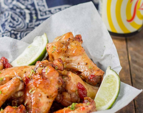 Cherry Lime Baked Wings