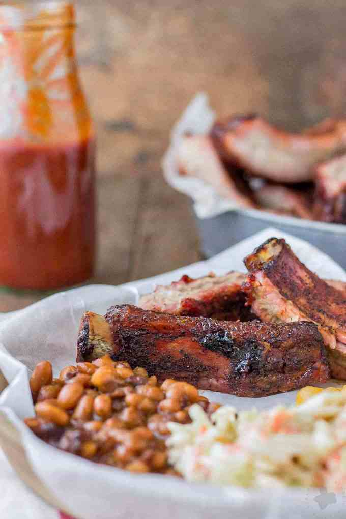 Sweet and Smoky, these Dry Rubbed Pork Ribs are extra tender and juicy thanks to Smithfield Extra Tender Pork Back Ribs. One look and you'll be running to the grill to make your own! | Strawberry Blondie Kitchen