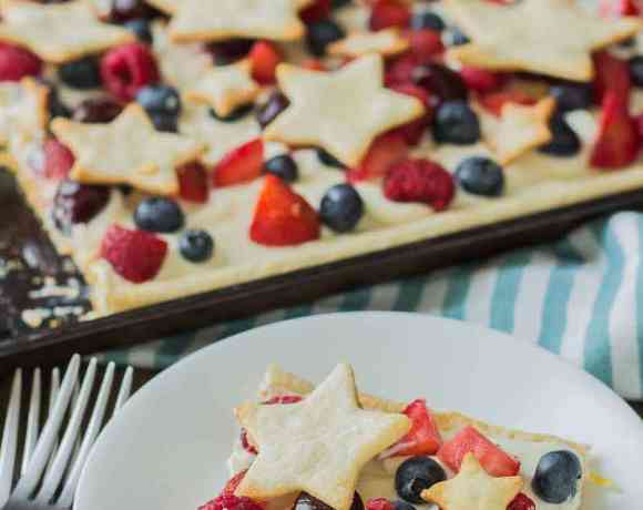 Star Spangled Berry Sheet Pan Pie