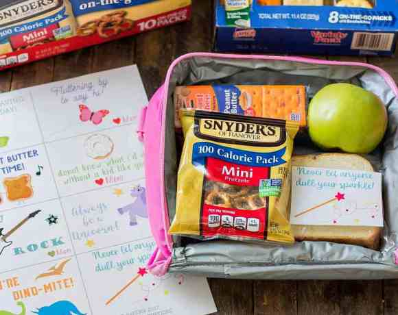 Pack with Love with Back to School Lunch Box Note Printables