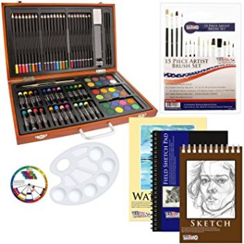 holiday gift guide 82 Piece Deluxe Art Creativity Set