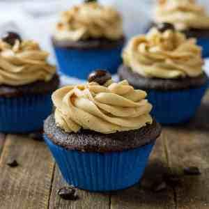 Peanut Butter Mocha Cupcakes