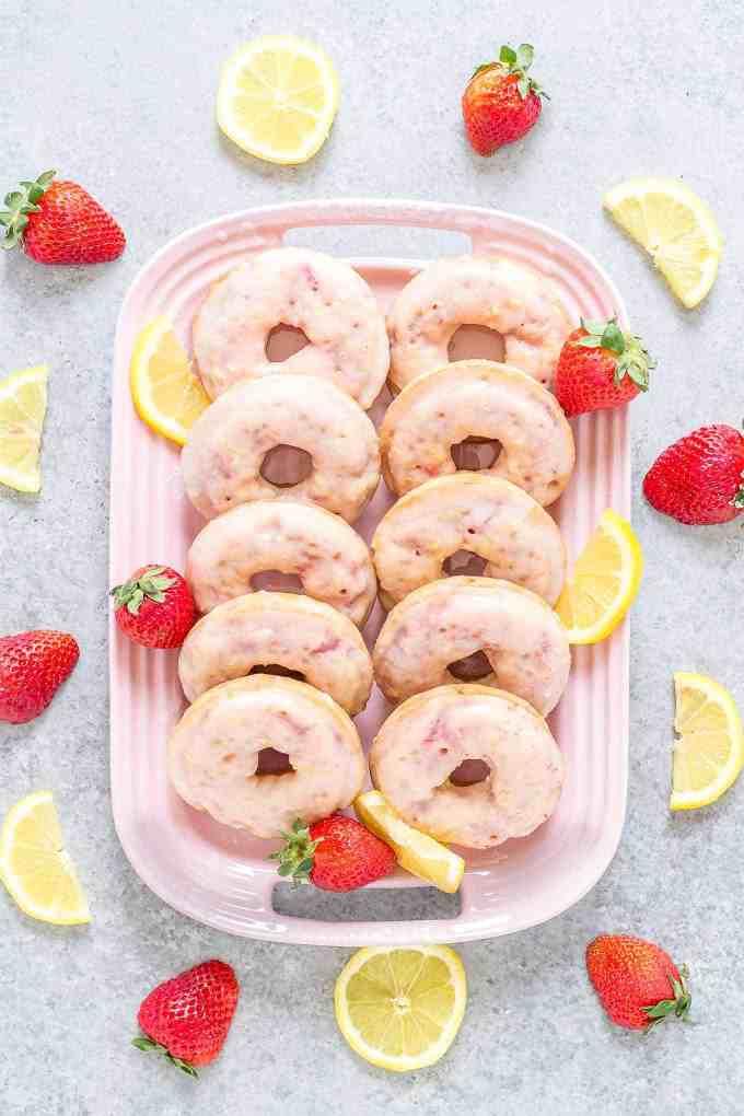 Strawberry Lemonade Donuts