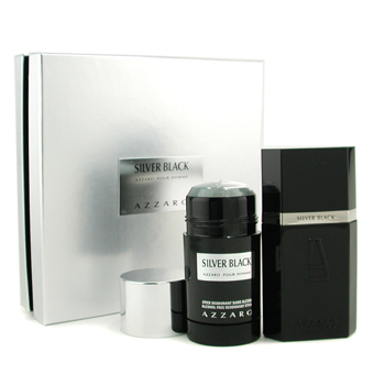 Loris Azzaro Silver Black Coffret: Eau De Toilette Spray 50ml + Deodorant Stick 75ml 2pcs